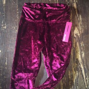 FASHION NOVA VELVET LEGGINGS